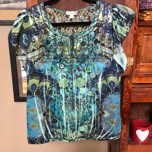 Stunning Dress Barn Shirt - Medium